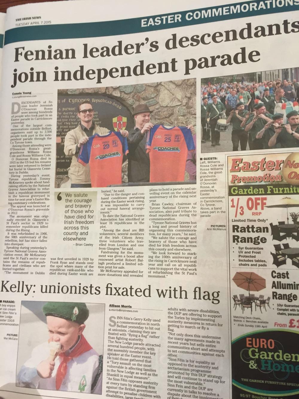 In the Irish News