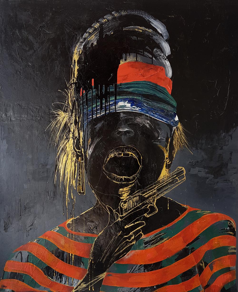 Black Minute / Oil on canvas / 150 x 100 cm / 2017
