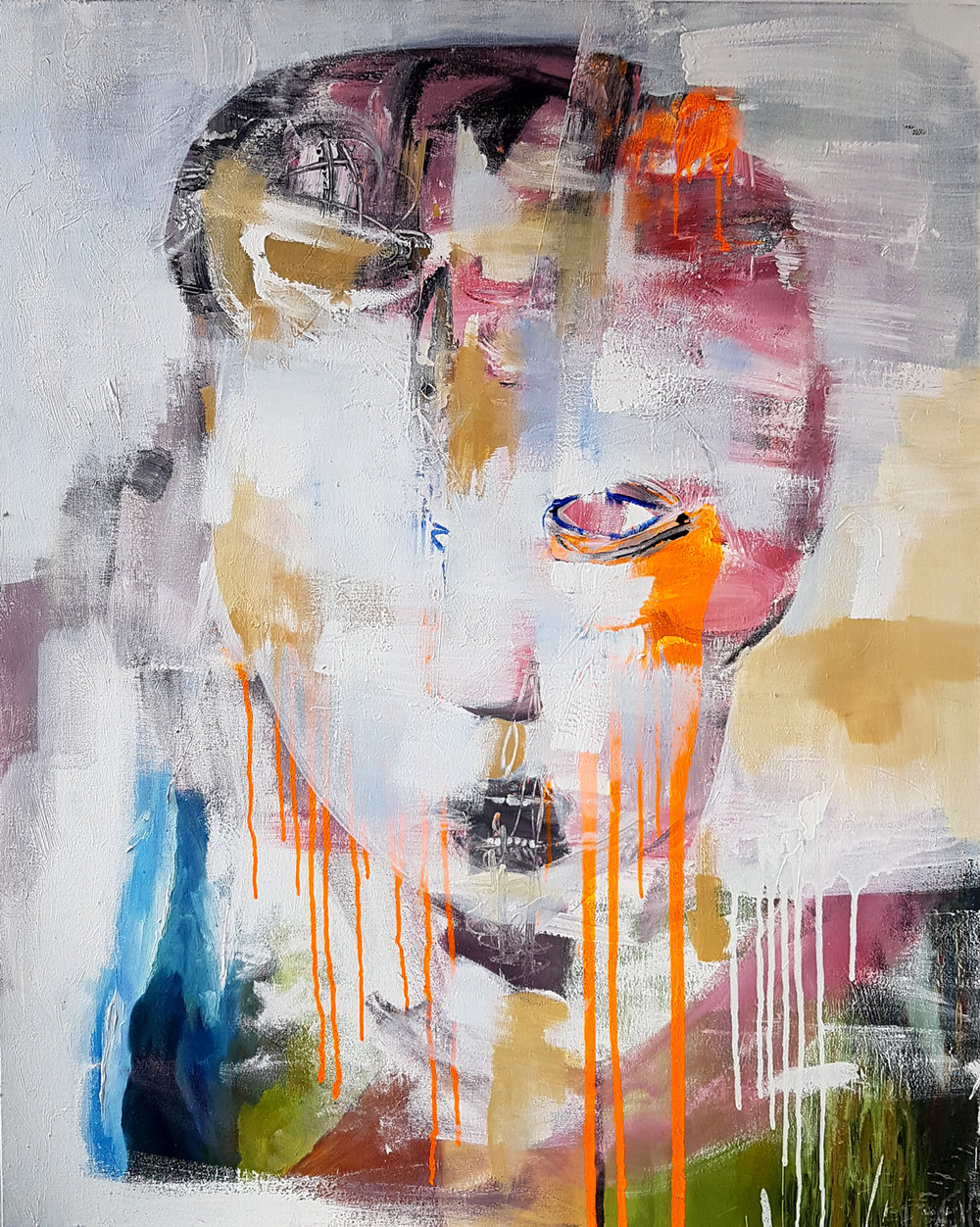 From One minute people / Oil on canvas / 150 x 100 cm / 2017