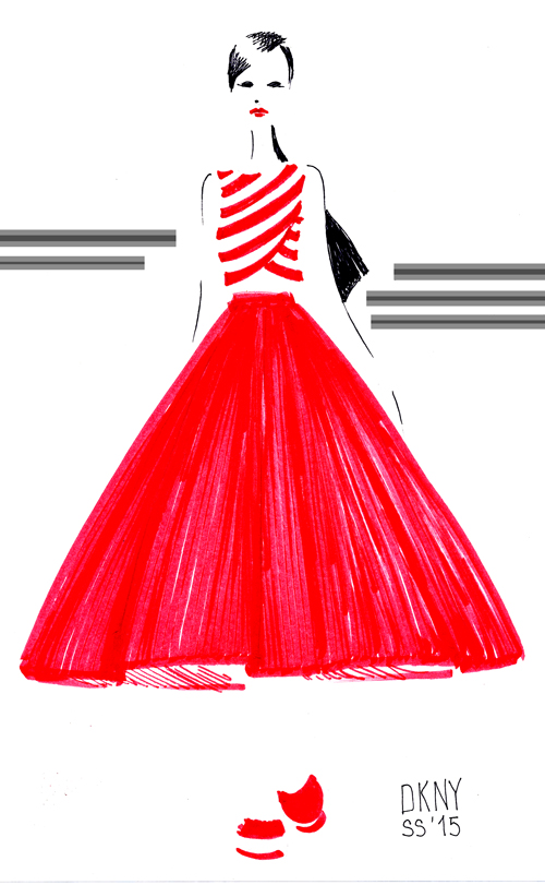Illustration: Virginia Romo from a DKNY design