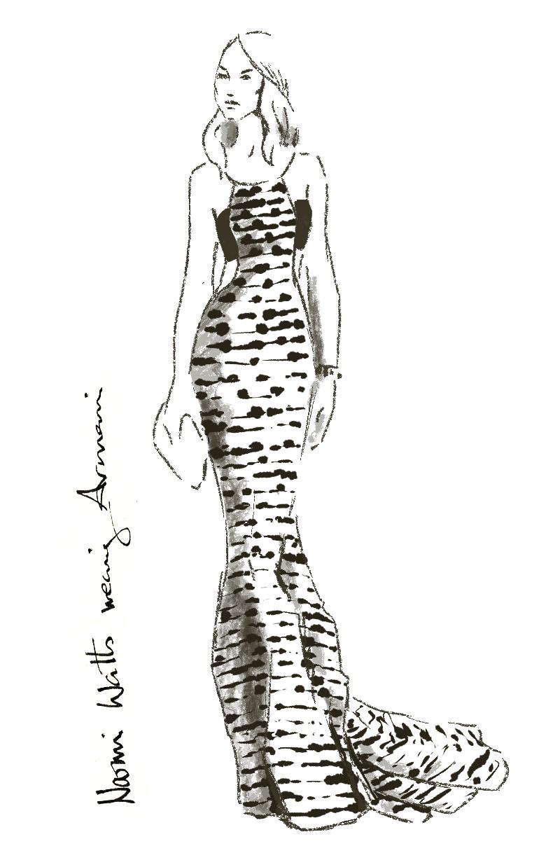 Fashionillustration-Virginia-Romo-Oscars2015-Naomi-Watts-in-Armani