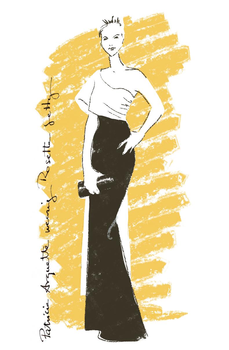 Fashionillustration-Virginia-Romo-Oscars2015-Patricia-Arquette-in-Rosetta-Getty