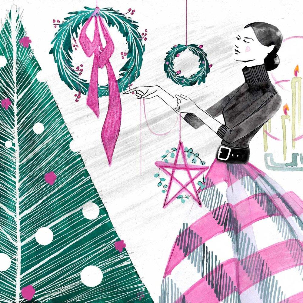Christmas style illustration - Weihnachten Modezeichnung
