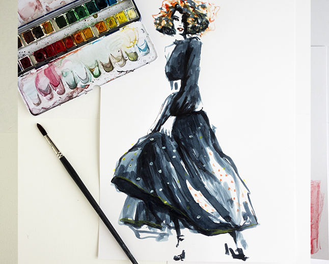 Fashion illustration Virginia Romo