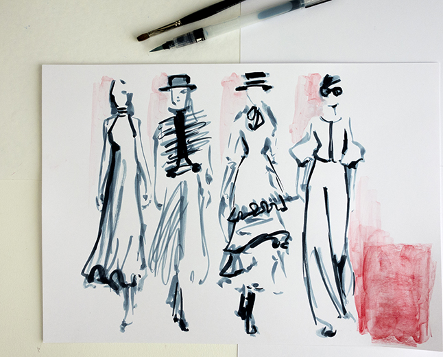Catwalk fashion illustration