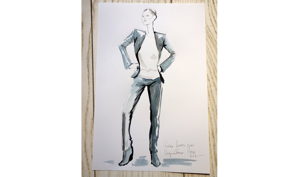 Live Sketches Fashion illustration Virginia Romo Riani Lodenfrey 1