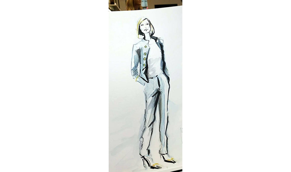 Live Sketches Fashion illustration Virginia Romo Riani Lodenfrey 3