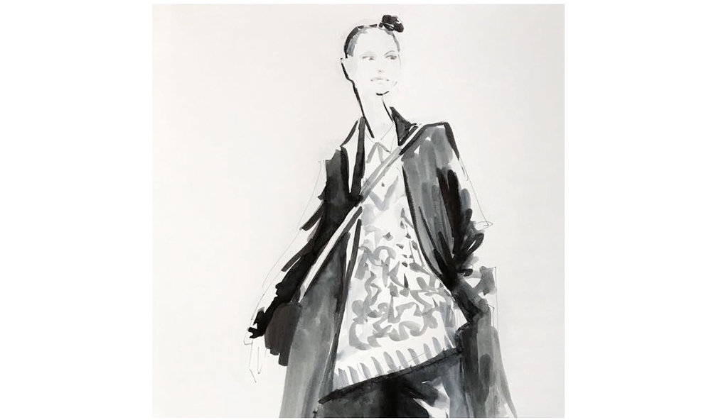 Live Sketches Fashion illustration Virginia Romo Riani Lodenfrey 4