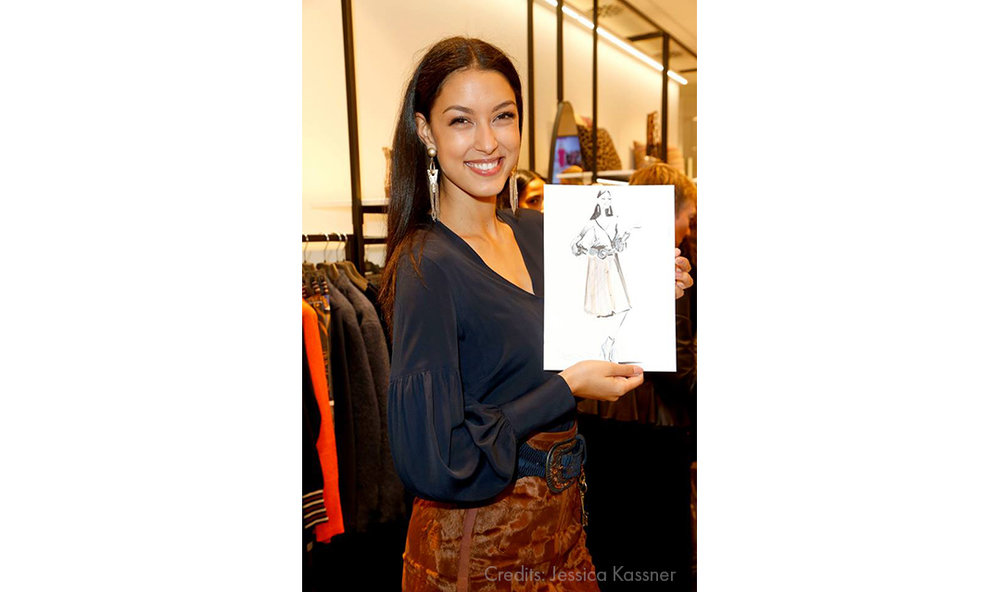 Live Sketches Fashion illustration Virginia Romo Riani Lodenfrey 10 Rebecca Mir Jessica Kassner