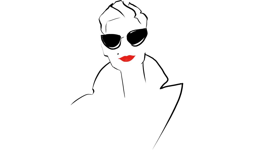 Fashion Illustration Logo For Blog Marquis Paris