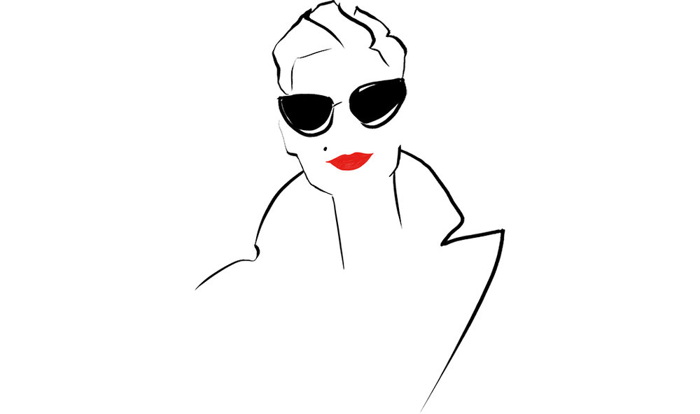 """Fashion-illustration-logo-for-fashion-blog-Marquis-Paris-by-Virginia-Romo.jpgThe fashion blogger Marquis Paris commissioned me with a new logo for her Instagram account and this is what we did together. I admire her style: so timeless and fresh, her elegance... Always good to find an inspiring pose. I remember that when I first saw her Instagram feed I thought """"wow, this is the woman I draw all the time"""". How good that then I had the chance to """"really"""" draw her!"""