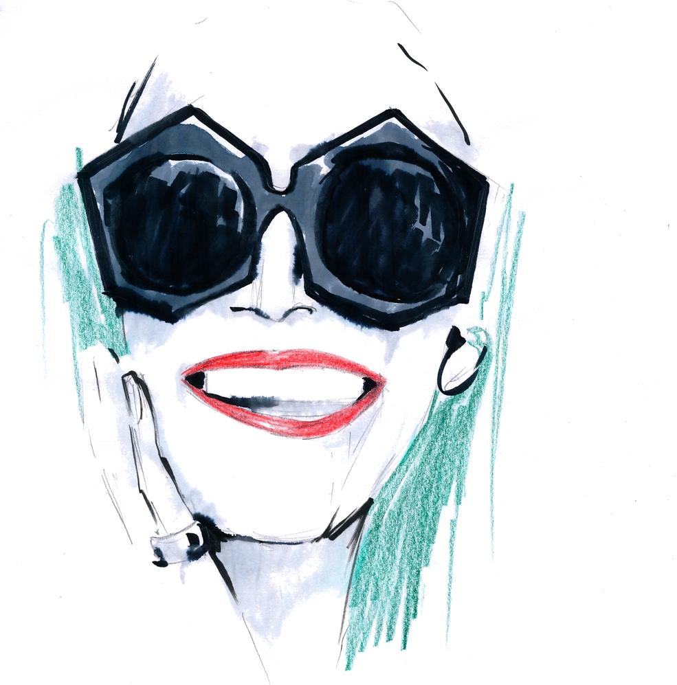 Judtih Maria fashion icon beauty illustration