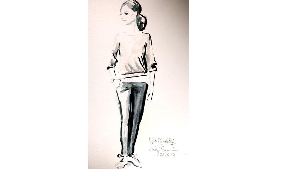 Event drawing live - fashion illustration