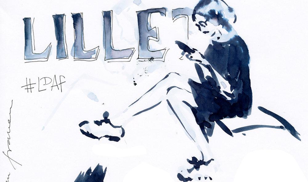Event drawing live - fashion illustration - Lillet pop-up bar