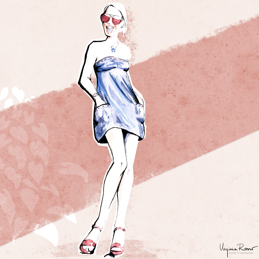 Fashion illustration Virginia Romo Dressember
