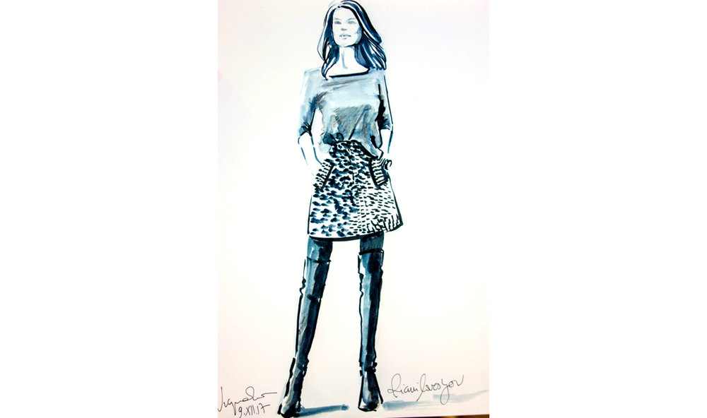 Live sketch event Virginia Romo Fashion Illustration for Riani in Breuninger