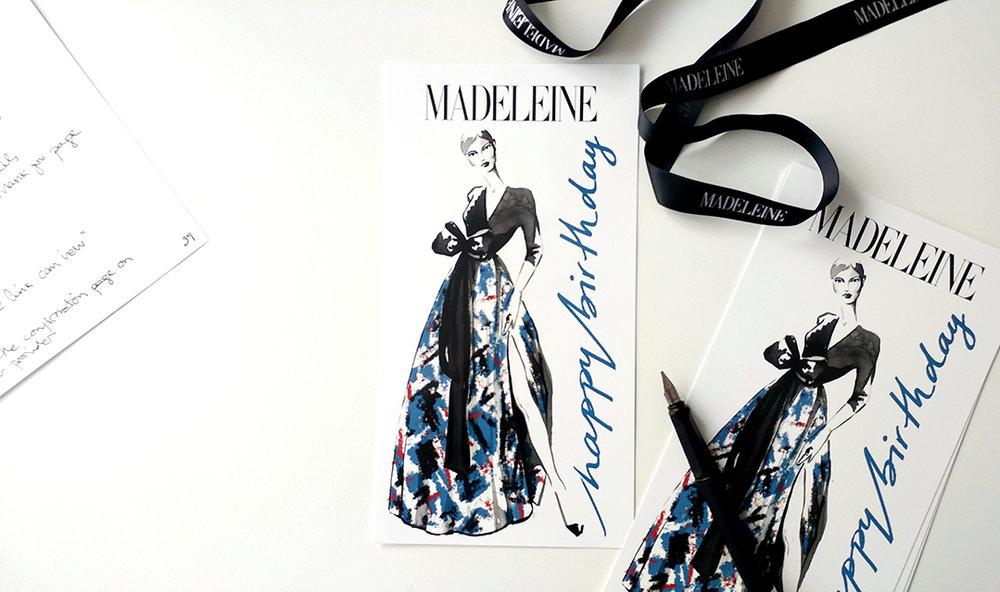 Fashion illustration greeting card promotional stationery Virginia Romo 1