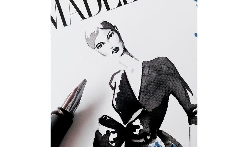Fashion illustration greeting card promotional stationery Virginia Romo 2