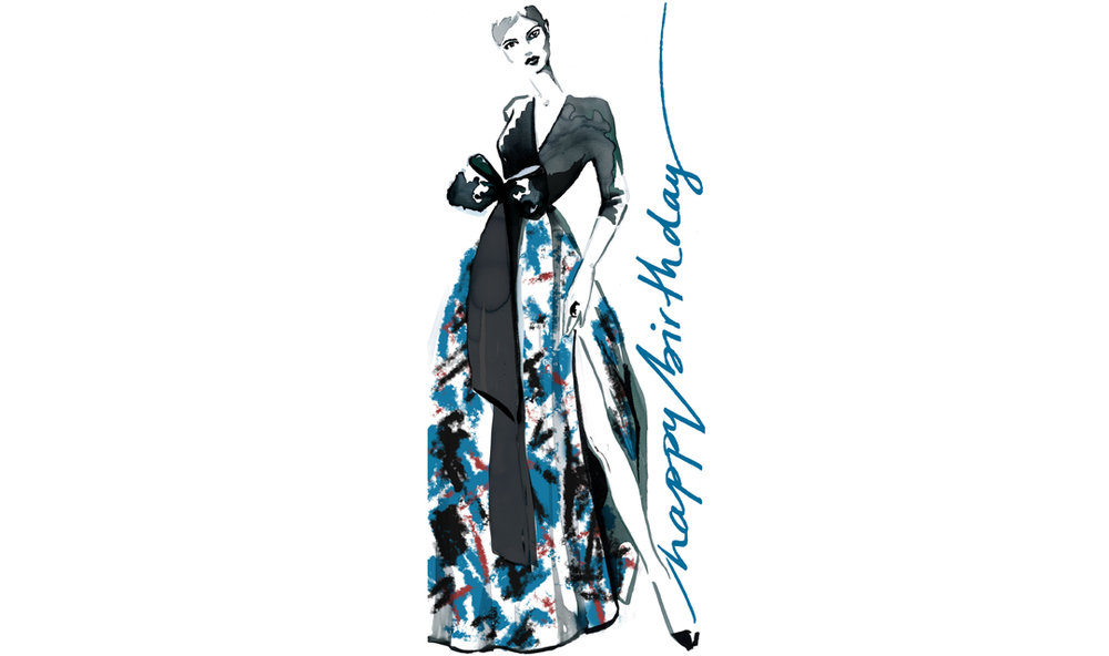 Fashion illustration greeting card promotional stationery Virginia Romo 5