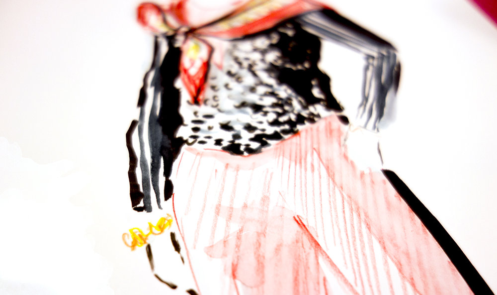 Virginia-Romo-fashion-illustration-live-sketches-Madeleine-store-event-2