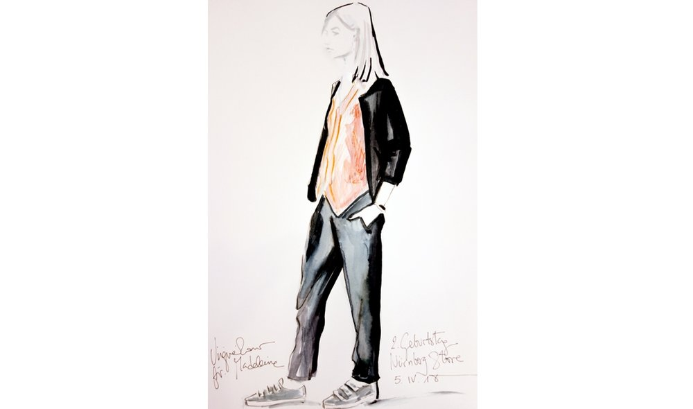 Virginia-Romo-fashion-illustration-live-sketches-Madeleine-store-event-1