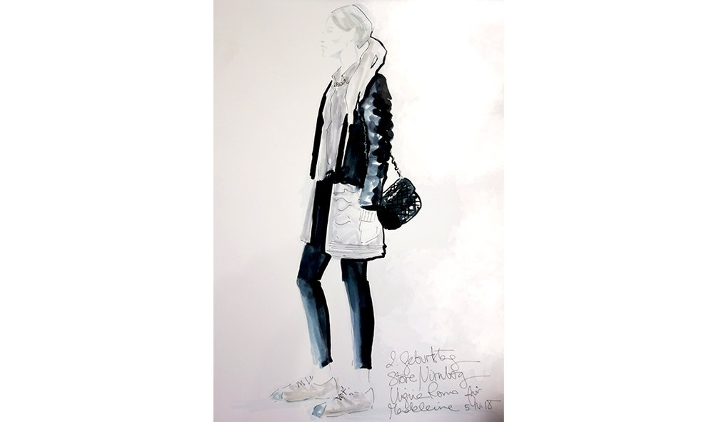 Virginia-Romo-fashion-illustration-live-sketches-Madeleine-store-event-3