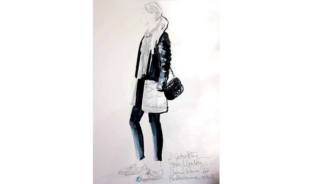 Virginia-Romo-fashion-illustration-live-sketches-Madeleine-store-event-3