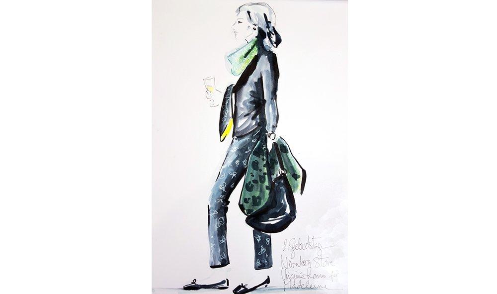 Virginia-Romo-fashion-illustration-live-sketches-Madeleine-store-event-5