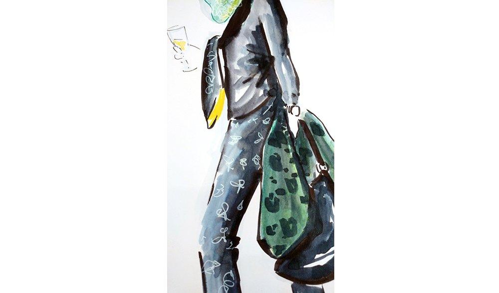 Virginia-Romo-fashion-illustration-live-sketches-Madeleine-store-event-6