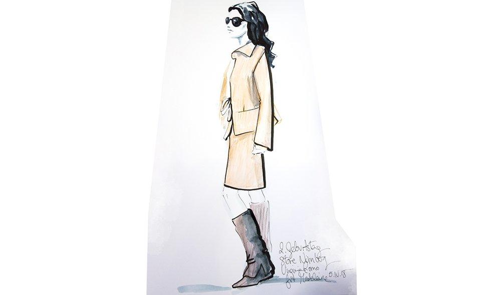 Virginia-Romo-fashion-illustration-live-sketches-Madeleine-store-event-7