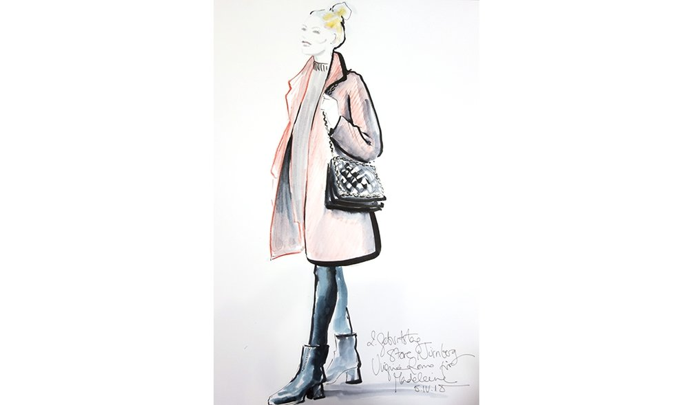 Virginia-Romo-fashion-illustration-live-sketches-Madeleine-store-event-9