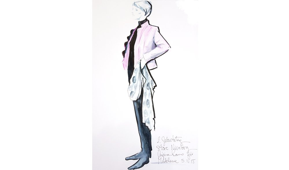 Virginia-Romo-fashion-illustration-live-sketches-Madeleine-store-event-11