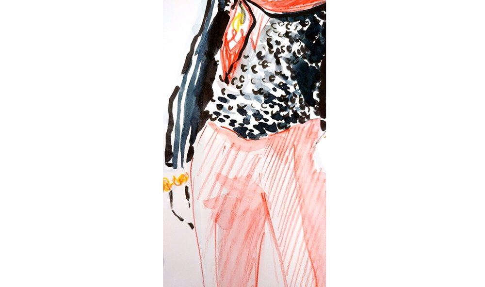 Virginia-Romo-fashion-illustration-live-sketches-Madeleine-store-event-13