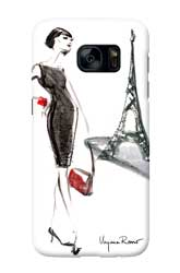 Virginia Romo-Phone-Case GalaxyS7-Parisian Lady red bag