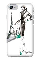 Virginia Romo-Phone-Case iPhone7-Parisian Lady green bag