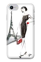 Virginia Romo-Phone-Case iPhone7-Parisian Lady red bag