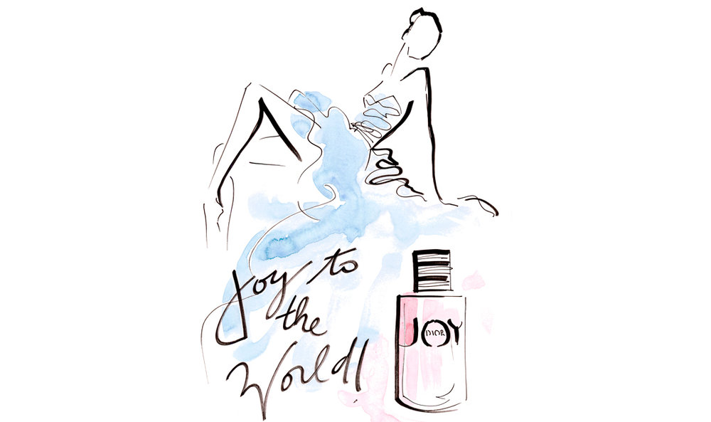 Live sketch event Virginia Romo Fashion Illustration launch JOY by Dior Germany