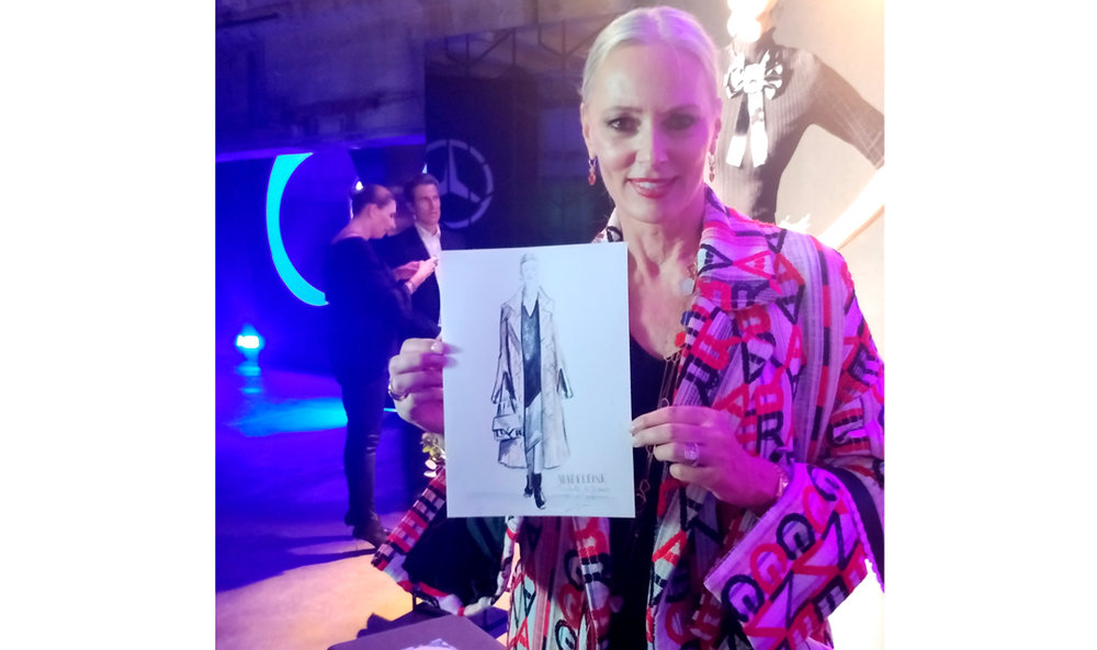 Petra von Bremen with VIrginia-Romo-fashion-sketches-live-Madeleine-Tribute-to-Bambi-2018-13.jpg