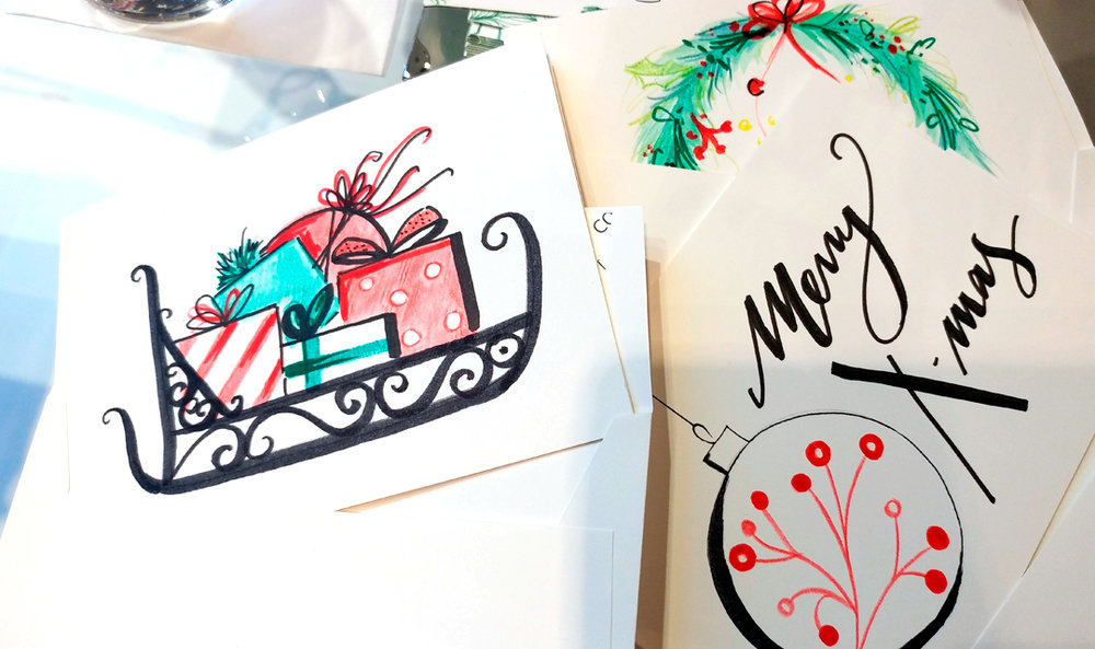 Virginia-Romo-Illustration-live-drawing-event-Christmas-Cards-for-Riani-2.jpg