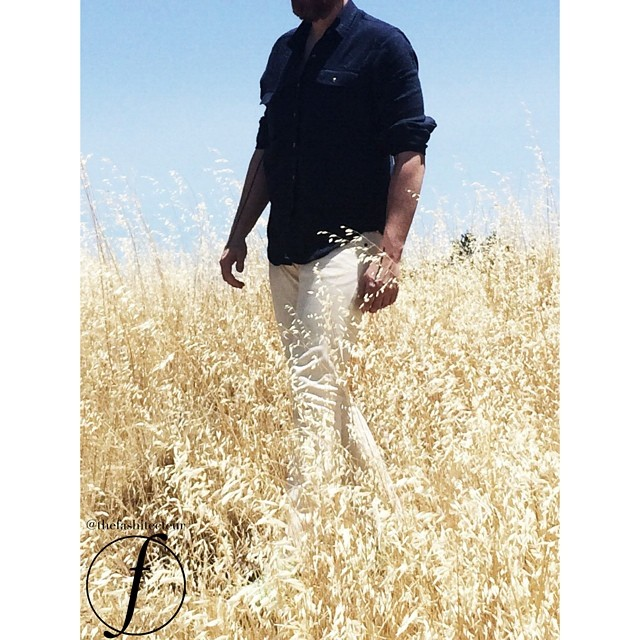 Channeling a bit of Ralph Lauren in this photo... Wheat Selvedge 484s from JCrew and a simple navy button-up from Urban Outtfitters - perfect for a warm summer walk through the Headlands. The question is what color shoes did I wear?!