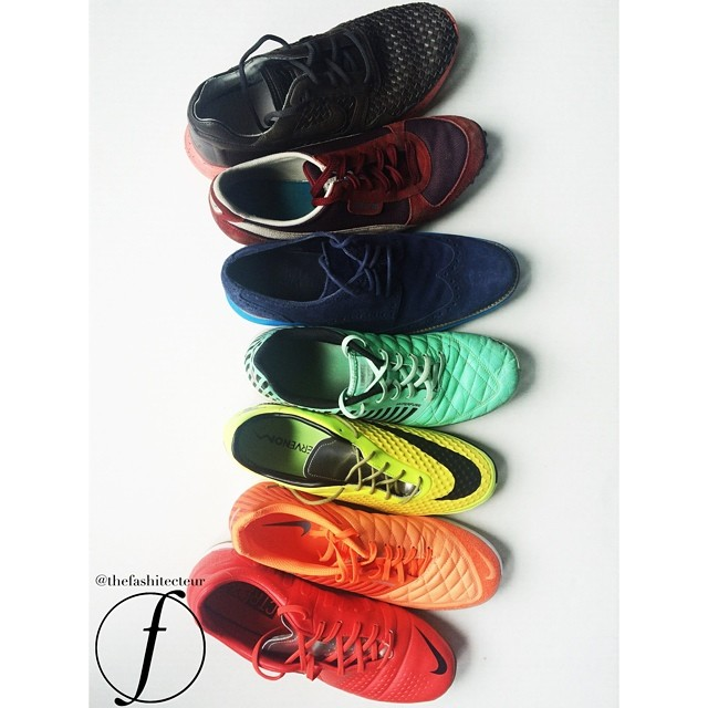 A sneak of the sneaks in my closet. The perfect blend between the World Cup and San Francisco's Pride Weekend...