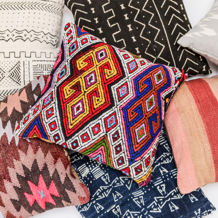 Boho Pillows Commerce Fine Goods