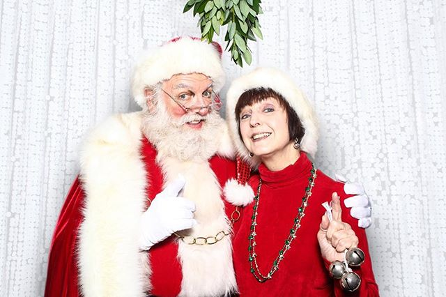 Santa and the Mrs hopped in the booth and under the mistletoe - we're glad that we're not on the naughty list. That would've been weird.