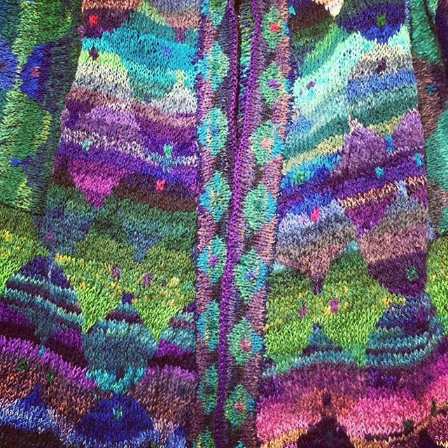Handknitted wool and silk kimono on display at Blackthorpe Barns today. Completely unique, lightweight and warm #uniquepieces #handknitted