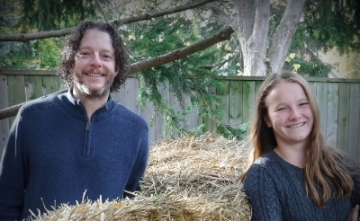 The Garage Gardeners is hosted by two extreme gardeners who use their garage as a season extender: 12-year-old garden writer Emma Biggs, and her father, horticulturist Steven Biggs.