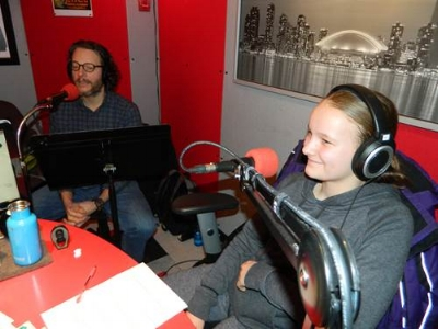 In the studio: Steven Biggs and Emma Biggs, hosts of The Garage Gardeners Radio Show