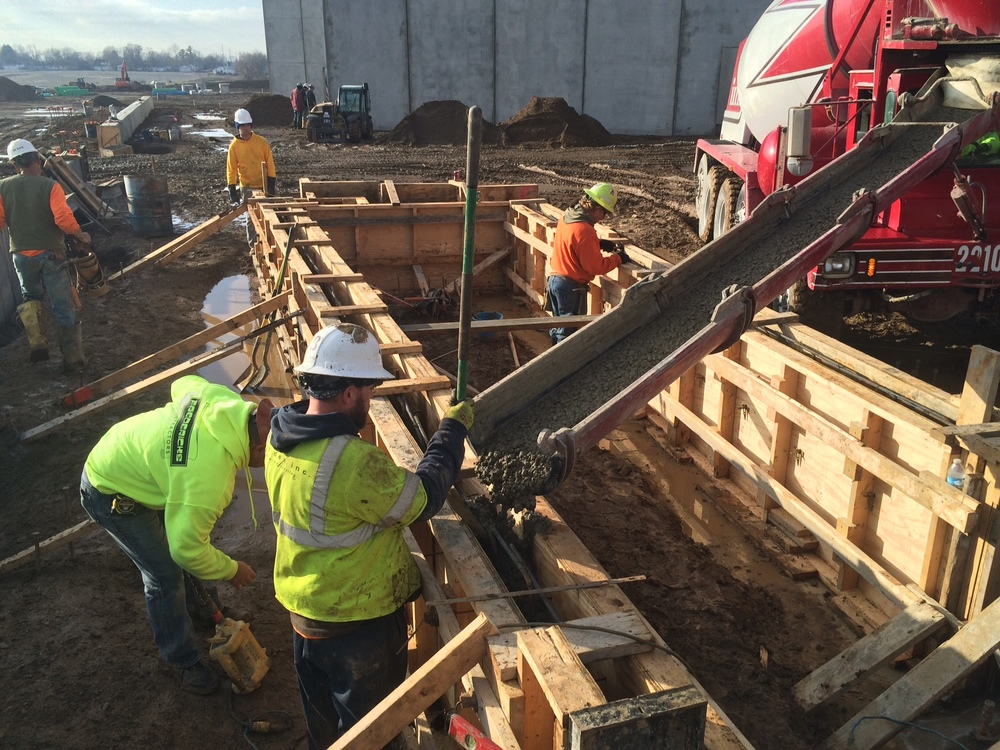 Pouring of Foundation Walls - East Side of Area B.JPG