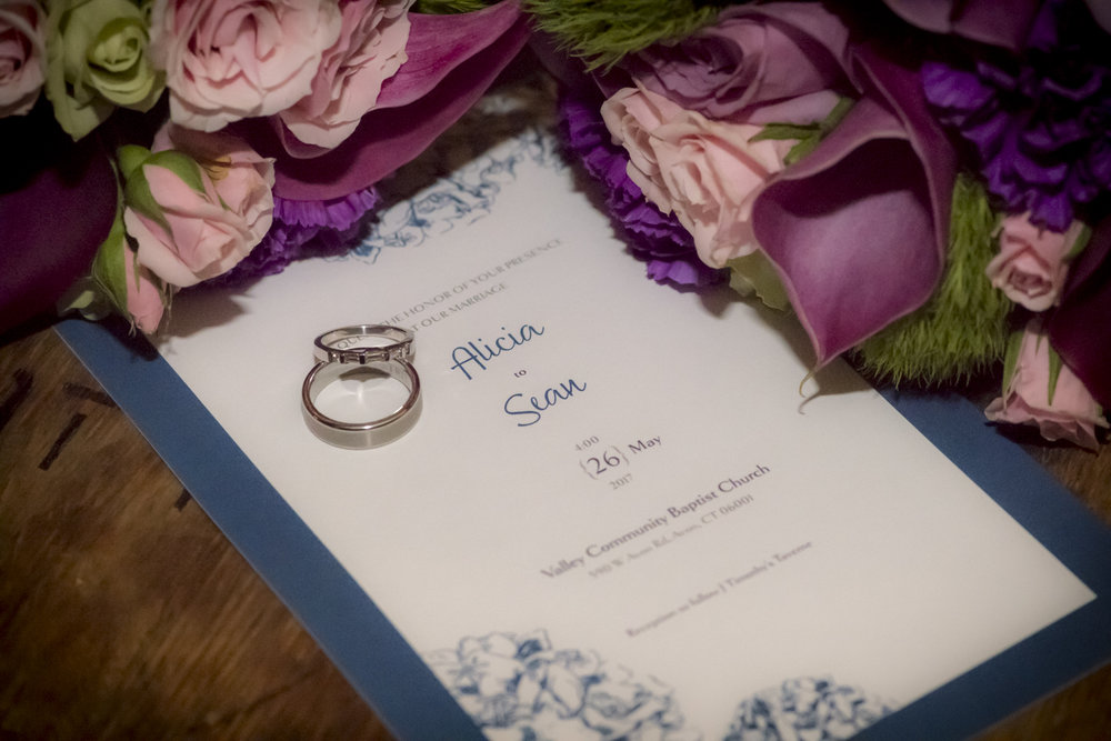 Wedding Invitation-wedding bouquet-Farmington-Connecticut-wedding rings