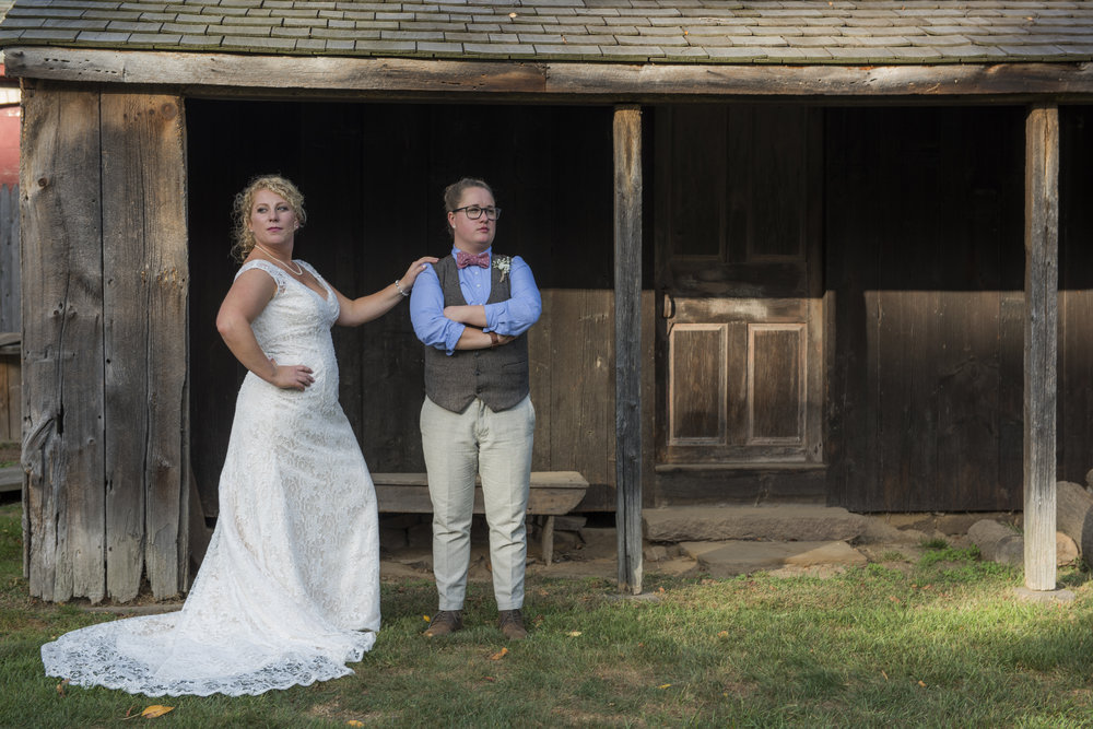Lesbian wedding photography-Webb Barn-Old Wethersfield-CT Berlin-Rustic wedding-Barn wedding