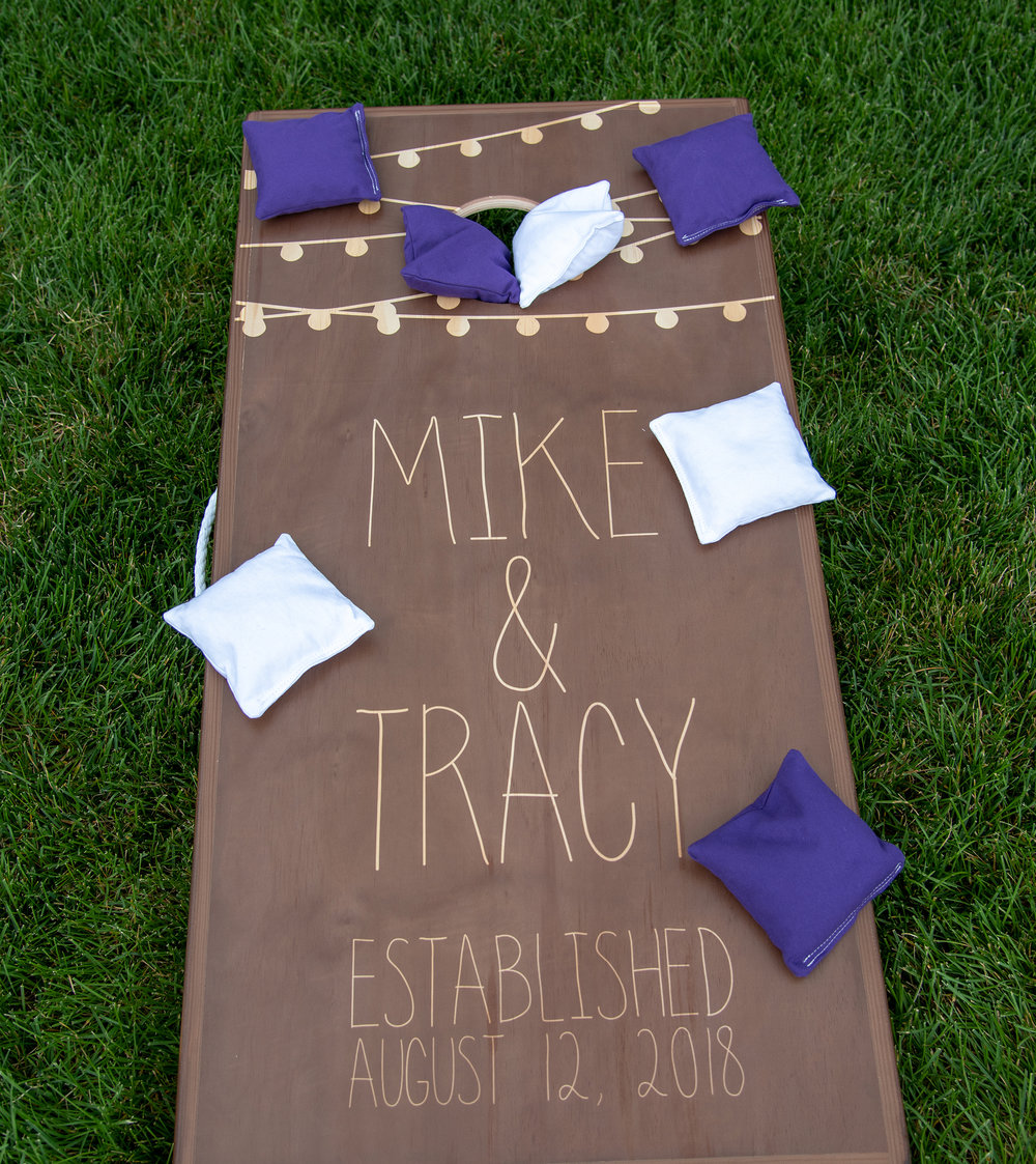 Personalized Wedding Cornhole Game